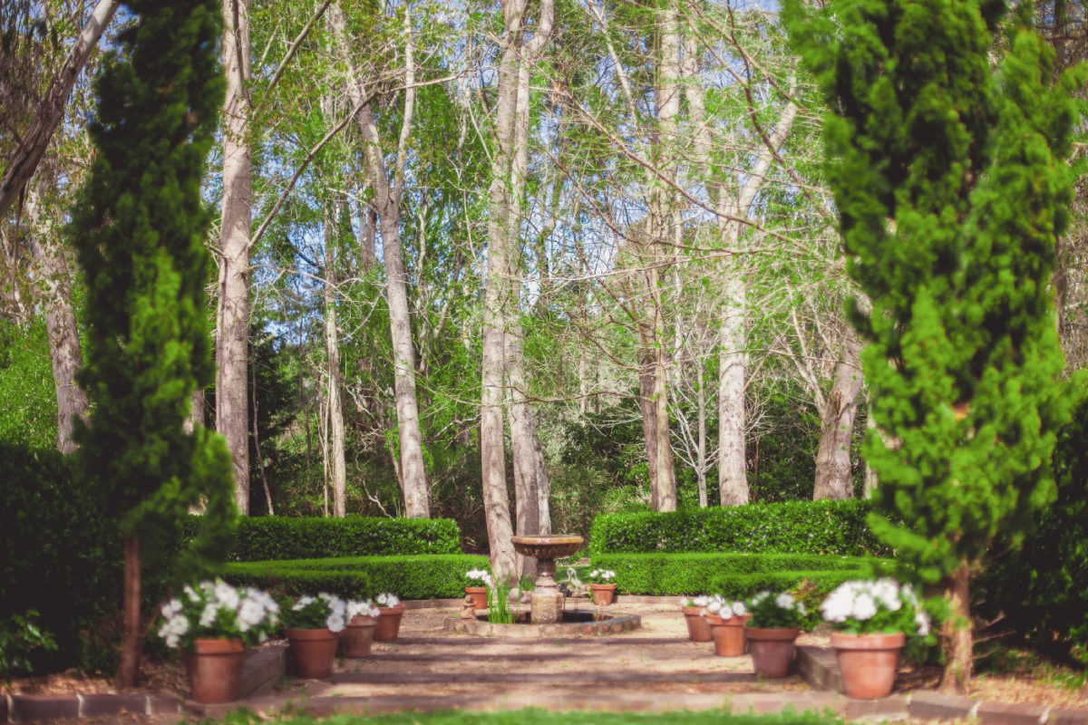 the secret garden southern highlands open garden wedding garden venue reception ceremony bowral wildes meadow burrawang robertson country wedding formal garden fountain private venue