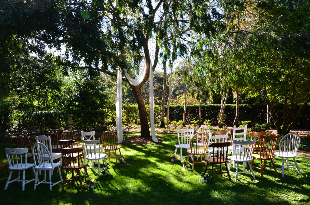 How To Drape A Tree With Fabric For A Stunning Outdoor Ceremony The Secret Garden