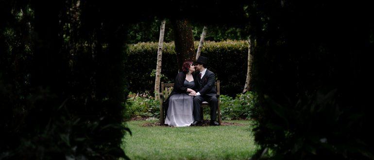 the secret garden halloween goth wedding ceremony reception wildes meadow burrawang robertson wollongong cheap wedding sydney venue wild wedding unique wedding new south wales